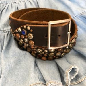 Accessories - Handcrafted Studded Cowhide Belt